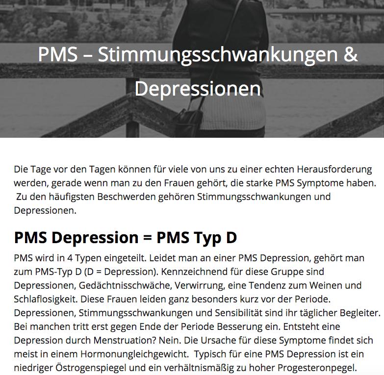 PMS Depressionen