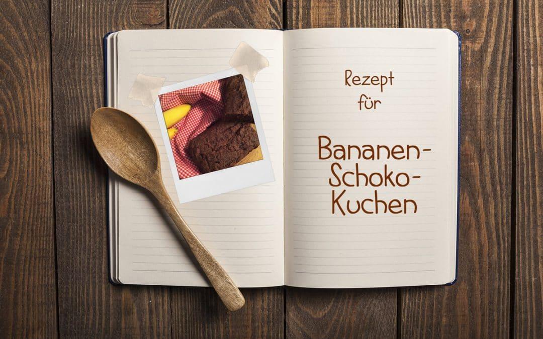 Einmal Glückshormone bitte: Bananen-Schoko-Kuchen