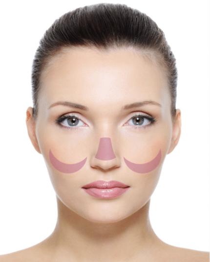 Skin Mapping Untere Wangenknochen