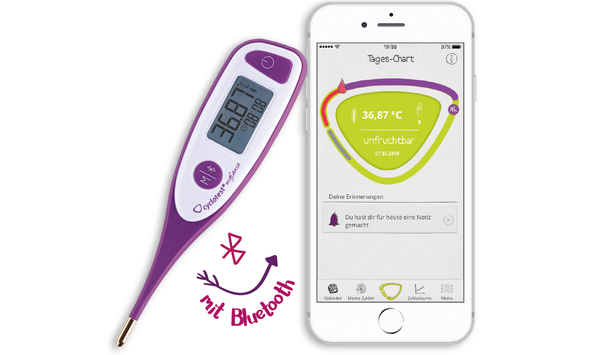 Cyclotest mySense: Bluetooth-Thermometer + App zur Verhütung 5