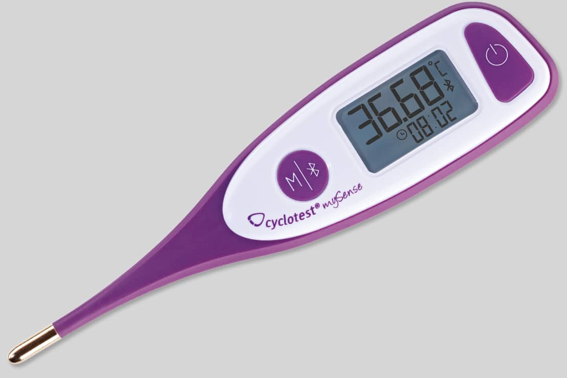Cyclotest mySense: Bluetooth-Thermometer + App zur Verhütung 2